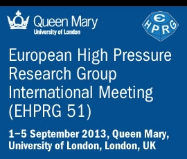 51st European High Pressure Research Group: EHPRG 2013